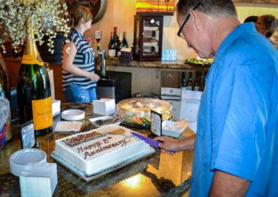 Main Street Wine Company 5yr Anniversary Cake