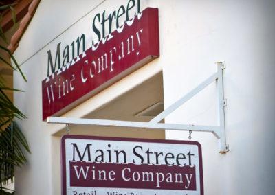 Main Street Wine Company Signage.