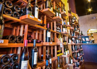 Main Street Wine Company Wines Wall.