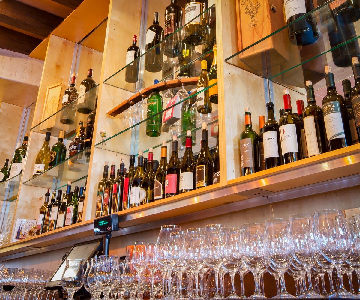 Main Street Wine Company Back of Bar Wine Display | Main Street Wine ...